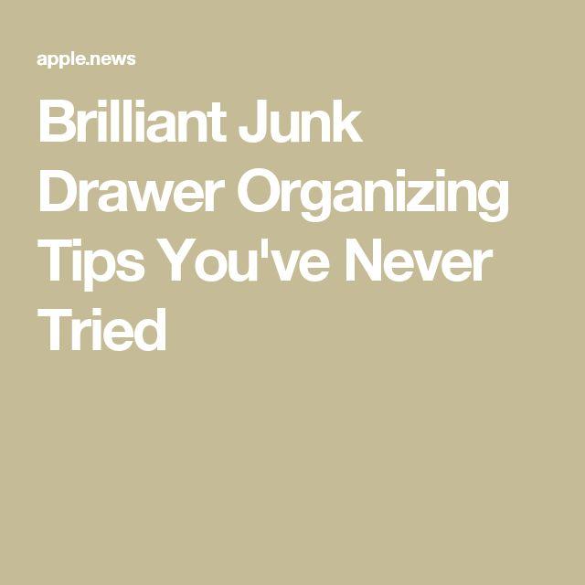Brilliant Office Organization Ideas: Best 25+ Junk Drawer Organizing Ideas On Pinterest