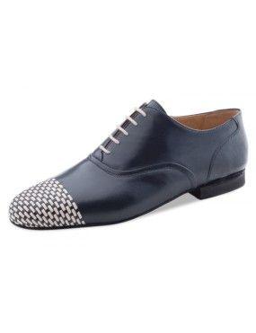 Chaussures de danse bleu arctique et beige, Zorro Nueva Epoca en cuir