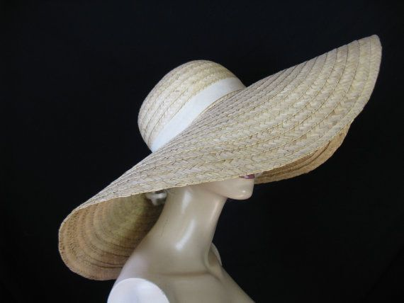 1970 S Straw Sun Hat Extra Large Brim Boho Floppy Sunhat Pinterest Hippie And Flaws