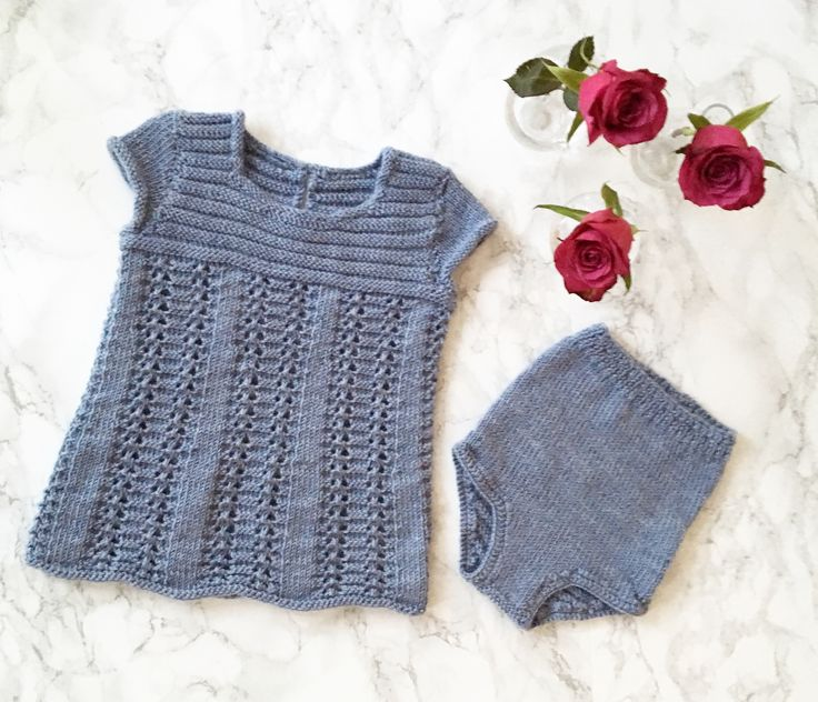 Babygirl dress. Knitting.