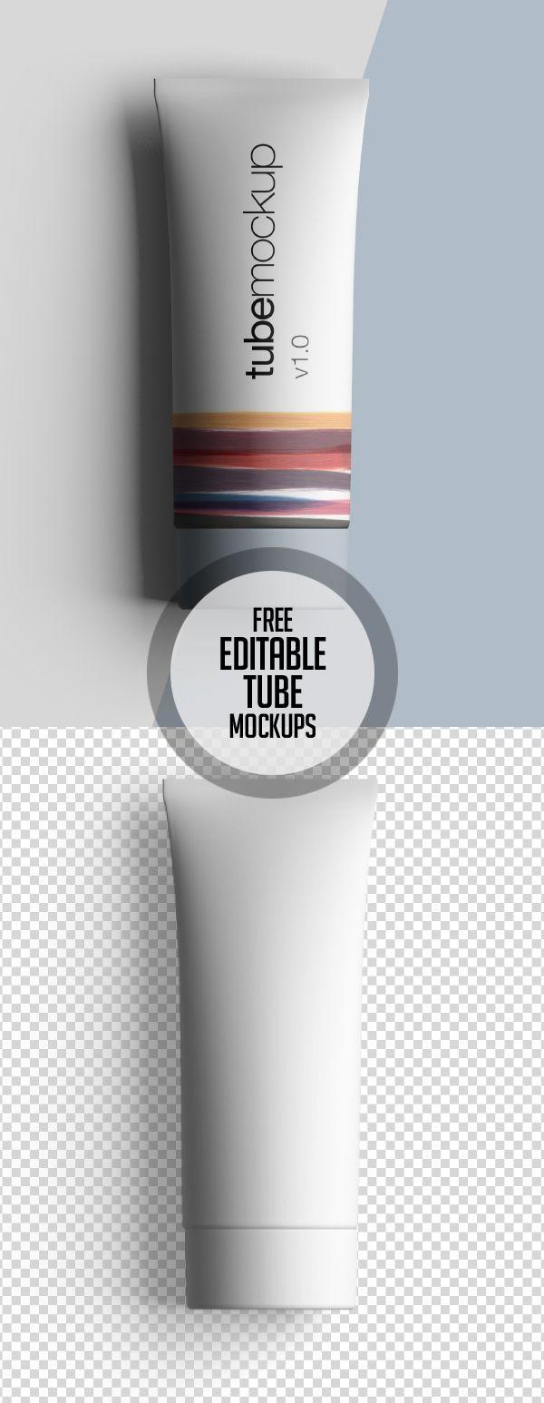 Free Premium Editable Tube Mockup #freepsdfiles #freepsdmockups #freebies #psdmockups