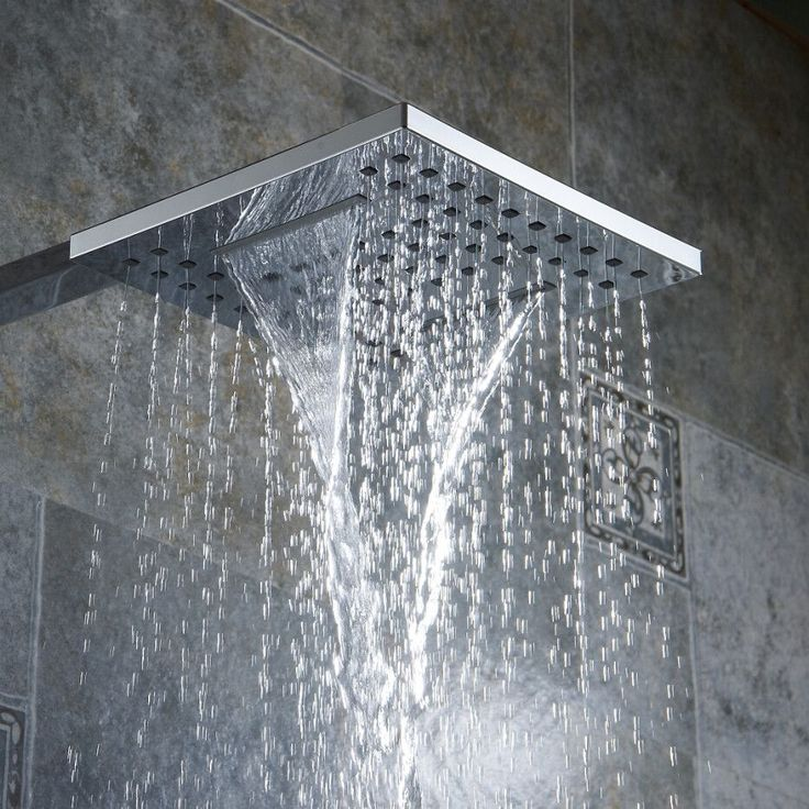 Bathroom shower Nozzle Rain type Pressure shower head Waterfall type shower head