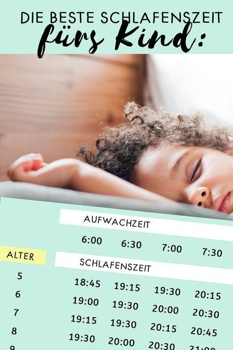 Diese Tabelle verrät: Das ist die beste Schlafenszeit für dein Kind!