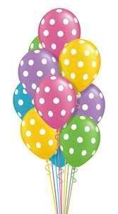 Polka Dot Latex Balloons