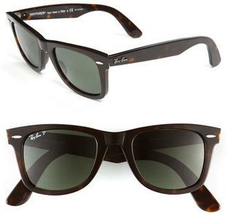 Ray-Ban 'Classic Wayfarer' 50mm Polarized Sunglasses #sunglasses #womens #summer http://www.thesterlingsilver.com/product/ray-ban-womens-sunglasses-grey-silver-one-size/