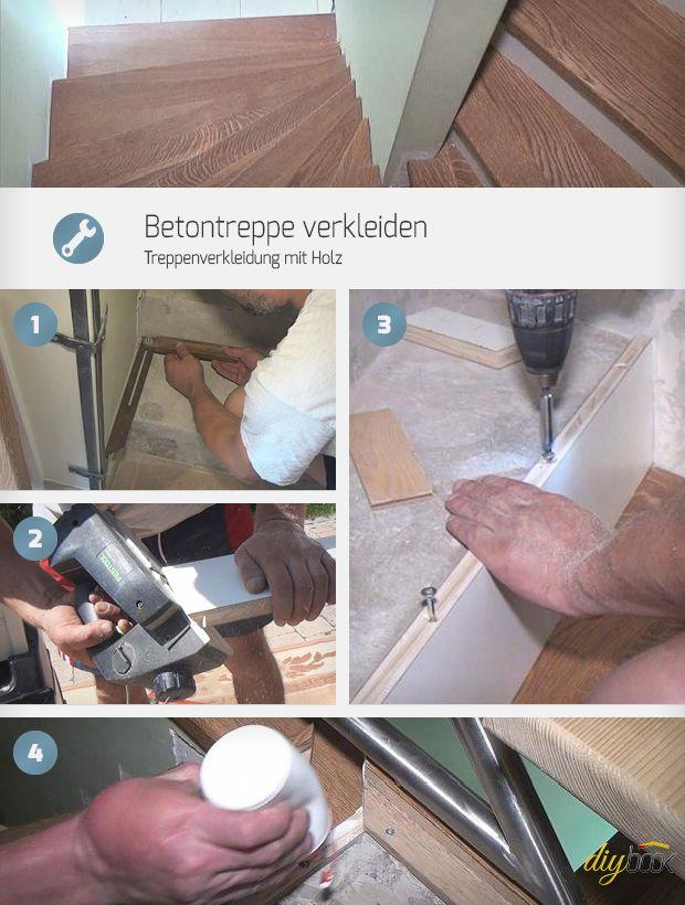 Mit der Anleitung, eine Betontreppe mit Holz zu verkleiden, ist auch der Heimwerker in der Lage seine Treppe mit Holz zu belegen.