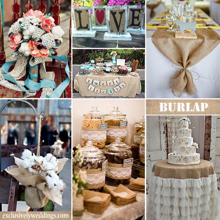 91 best Burlap Wedding Ideas images on Pinterest Burlap weddings