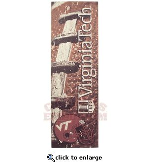 Large VT Football Wooden Sign