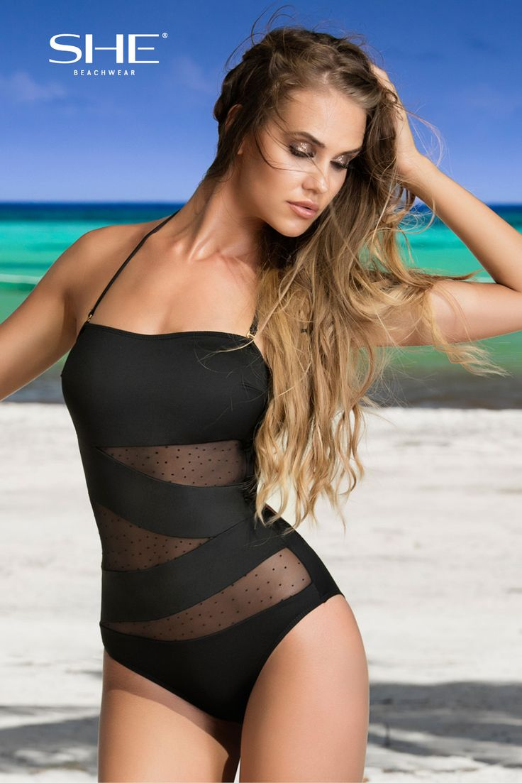 TIFFANY swimsuit is our bestseller for already 4 seasons! Geometric inserts of black mesh with little velvet drops underline the perfectly sunburnt skin and mask little disadvantages. Detachable pads, ties on the back and removable neck strap helps you to feel comfortable.