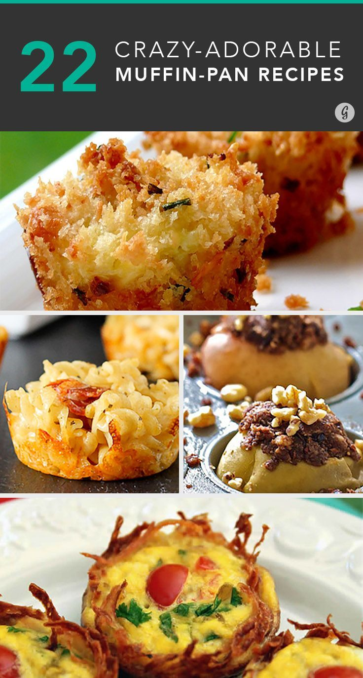 22 Portable Meals and Snacks You Can Make in a Muffin Pan #muffins #recipes #healthy