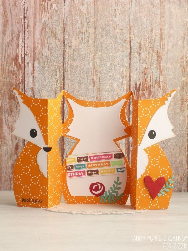Sizzix-Card Fox Label Fold-a-Long