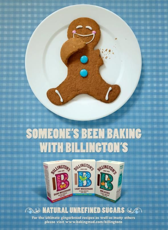 Billingtons Sugar: Gingerbread Man | #ads #marketing #creative #werbung #print #poster #advertising #campaign < found on www.adsoftheworld.com pinned by www.BlickeDeeler.de