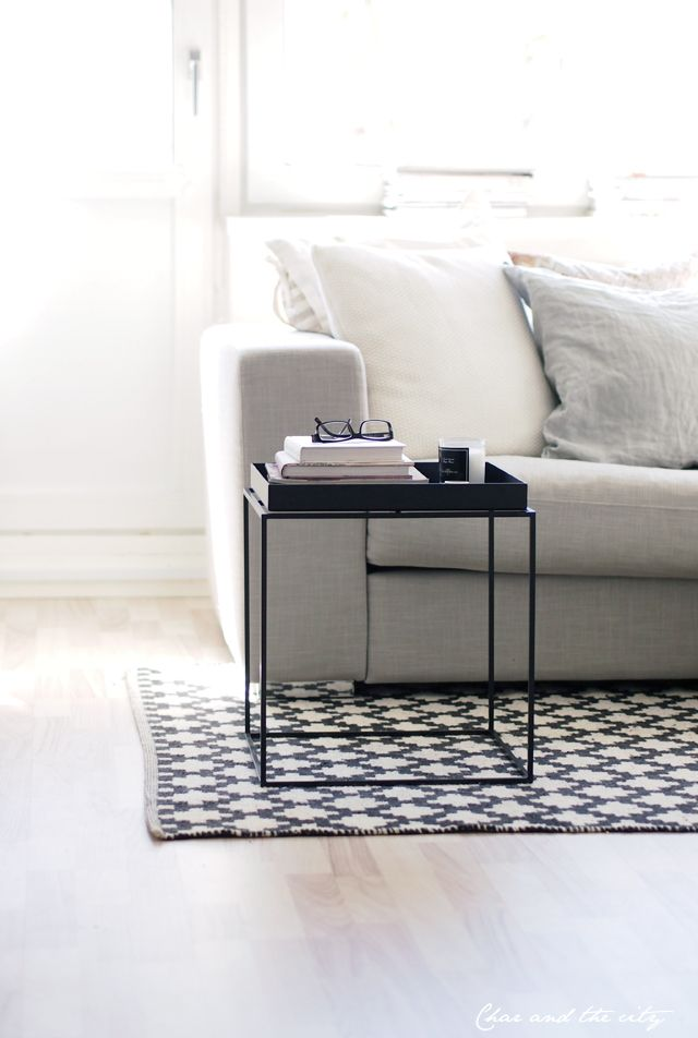 hays tray table in the livingroom char the city blog. Black Bedroom Furniture Sets. Home Design Ideas