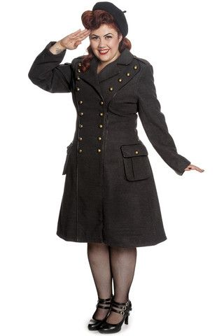 Imma Military Coat, Plus Size. https://www.galleryserpentine.com/collections/jackets-coats