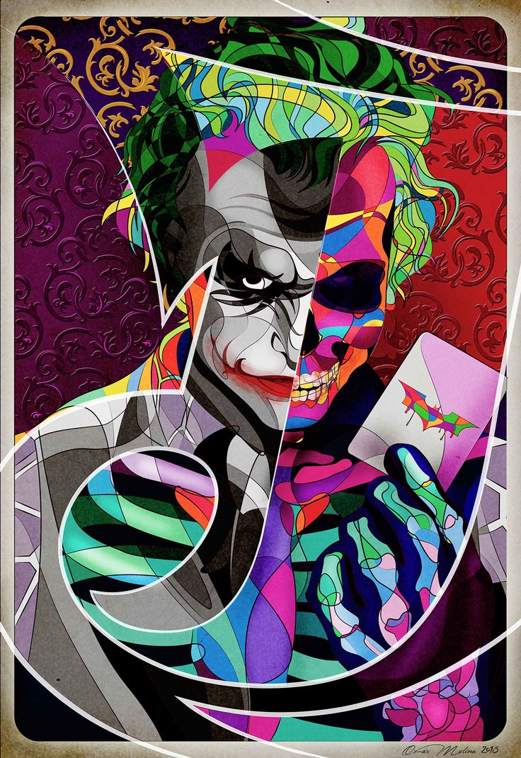 The Joker Skull art on Behance