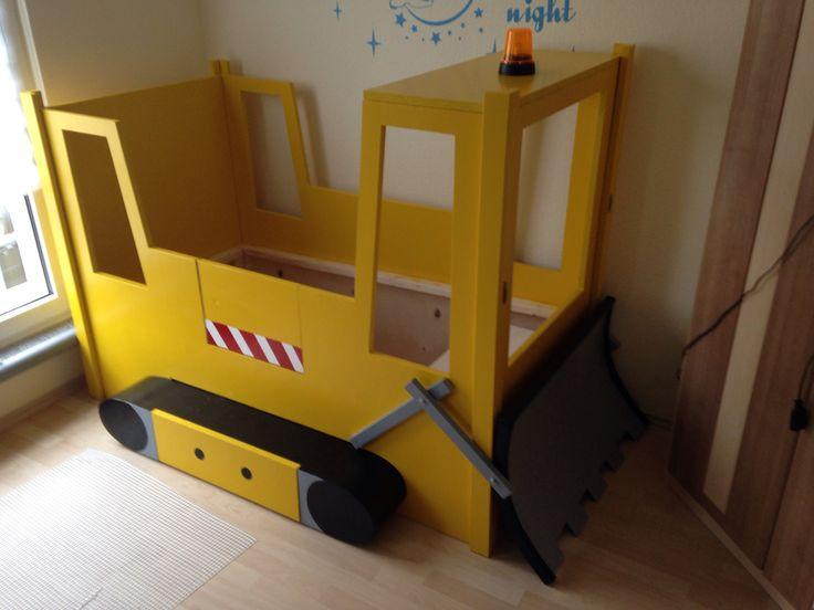 Kinderbett baggerbett  Die besten 25+ Kinderbett bagger Ideen auf Pinterest | Bagger bett ...