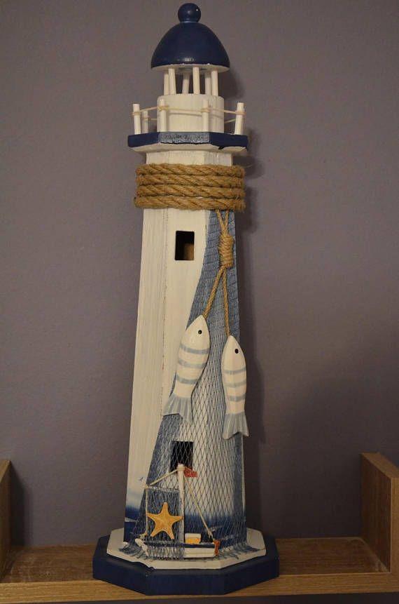 Faro di legno / nautico decorazione / nautica arredamento /