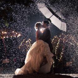 Trouwfoto's in de regen!