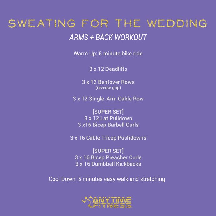 Wedding Workout: Arm and Back Workout #SweatingForTheWedding