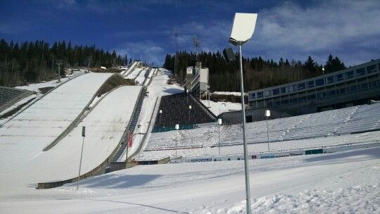 Ski jumps at Olympia Parken. Lillehammer Norway