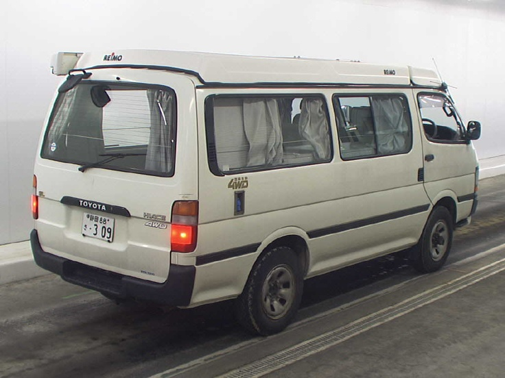 The only difference between the Toyota Hiace and a funeral casket is this shitter comes with windows and wheels. However I'm convinced the funeral casket-manufacturing industry owes a lot of its income to Toyota for finding a way to legally produce this death trap.