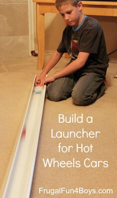 Turn a rubber band and bolts into a launcher for Hot Wheels cars!