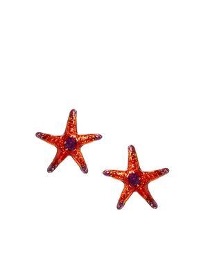 Bill Skinner Aquatic Starfish Earrings