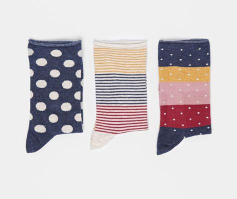 Pack of multi-coloured socks - OYSHO