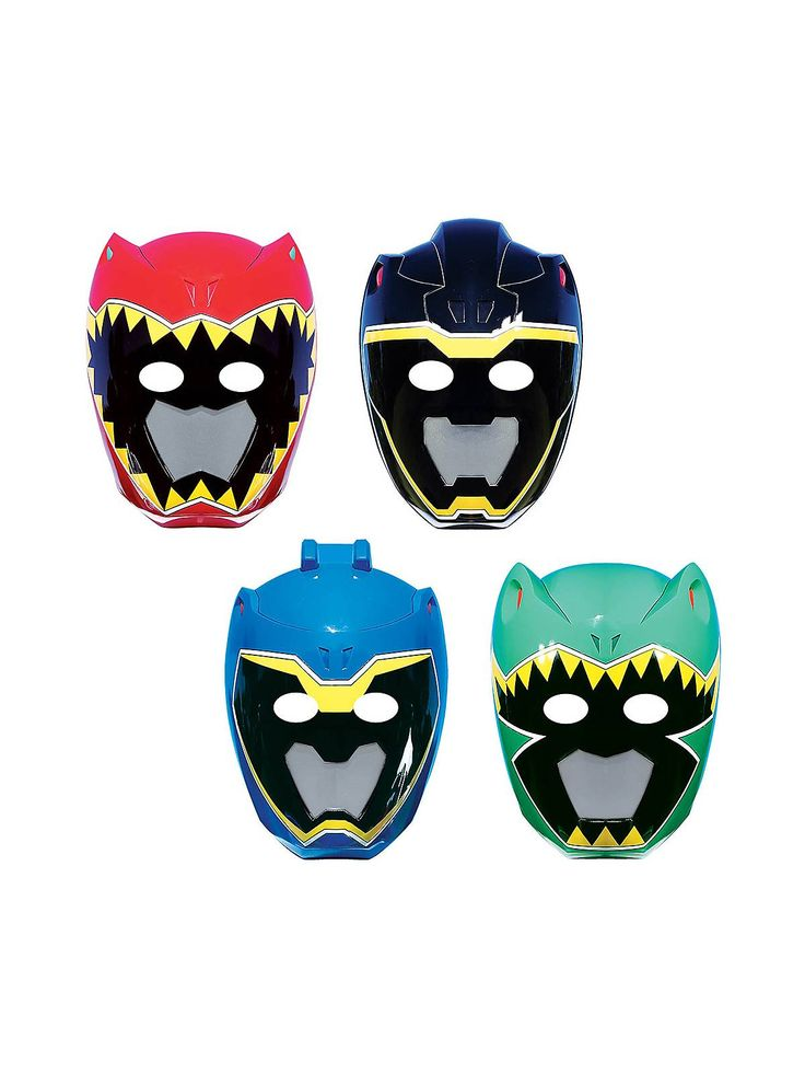 Power Rangers Dino Charge Paper Masks (8pack) $3.99 - birthdayinabox.com