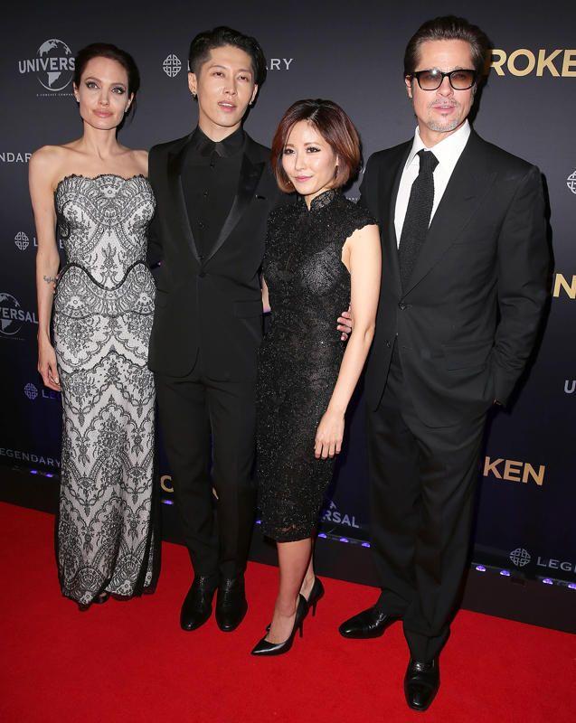 Angelina Jolie, Melody Ishihara, Miyavi Ishihara and Brad Pitt