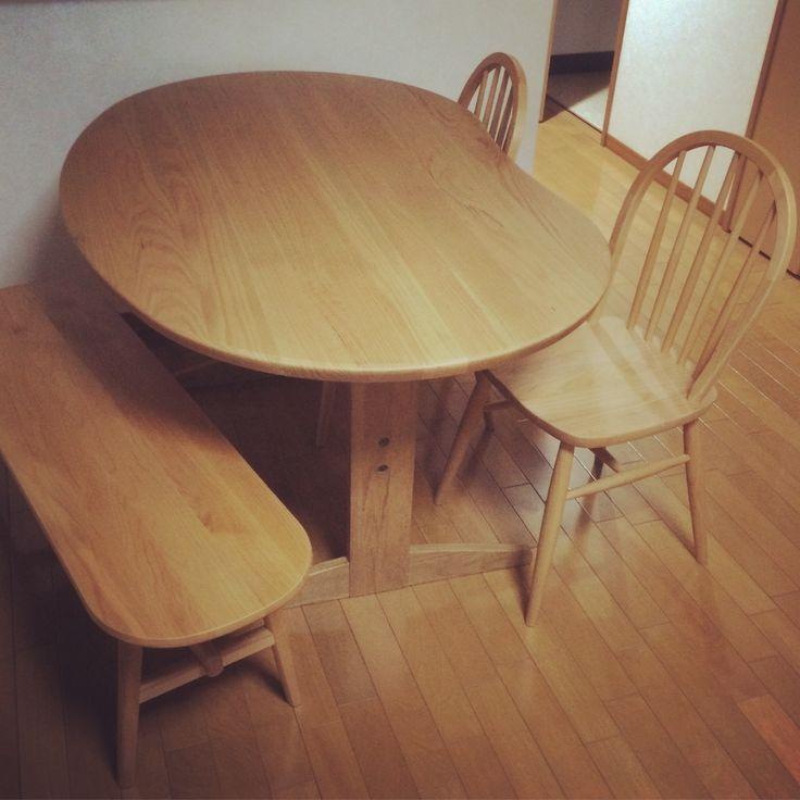 #ダイニングセット #ダイニングテーブル #リビングハウス #Livinghouse #豆テーブル #ダイニングチェア #モモナチュラル #momonatural #ベンチ #KEYUCA #diningset #diningtable #diningchair #japan #furniture #家具
