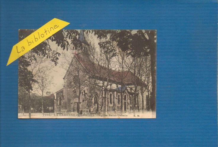 CPA COLORISEE - LA GARENNE COLOMBES (92) - EGLISE SAINT URBAIN - 1924