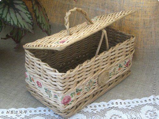 Поделка изделие Плетение Набор для кухни  Пшеничный аромат  Бумага газетная Трубочки бумажные фото 19