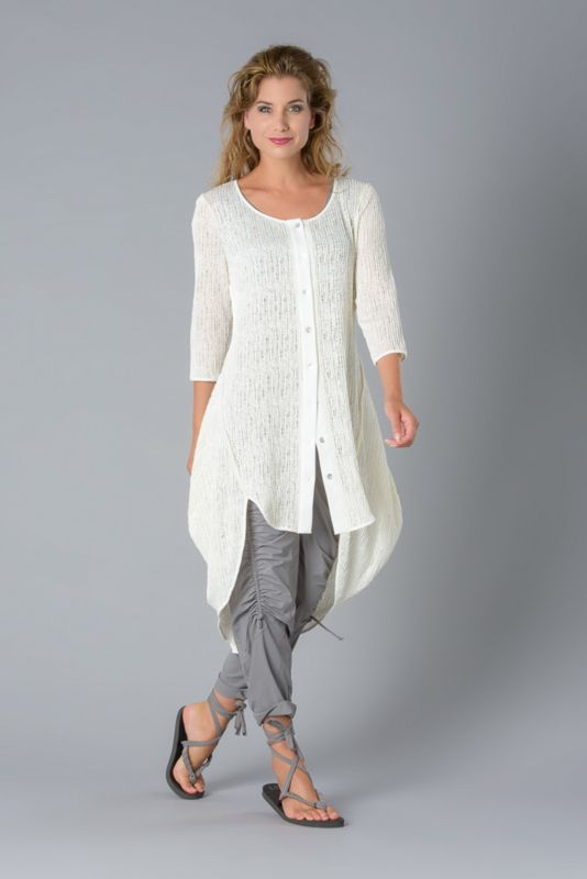 986f0804fe4 Elsewhere tunic cardigan transparant jersey 3035 | ELSEWHERE FASHION ...