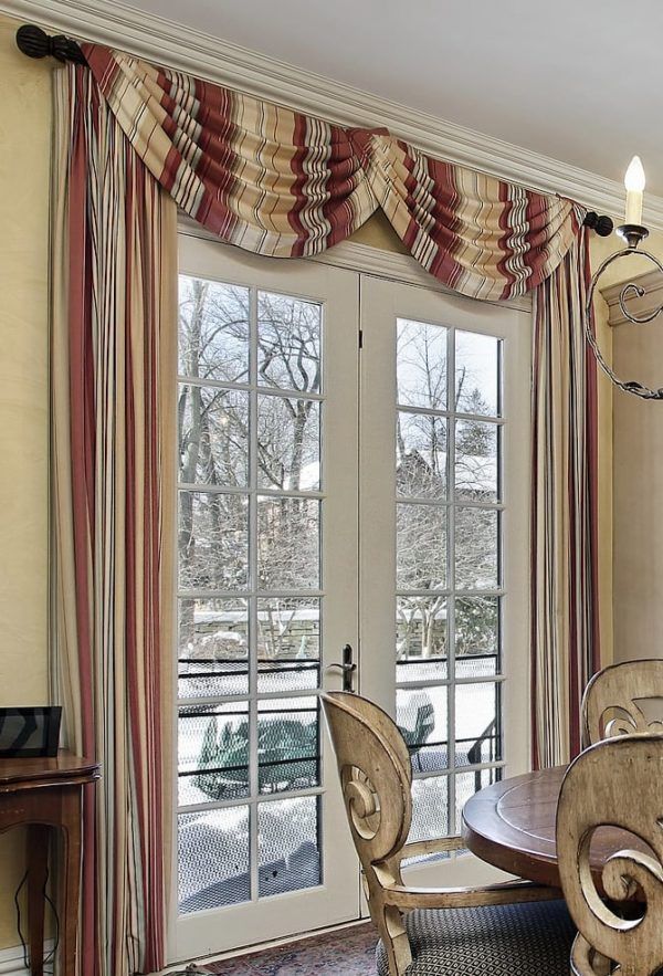 Valance Ideas For French Doors And 3 Tips To Follow Dining Room Window Treatments Dining Room Windows Living Room Windows
