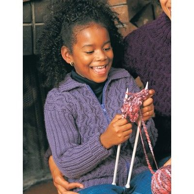 Cables and Ribs (child) - Knitting Patterns - Patterns | Yarnspirations
