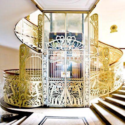 art nouveau interior | Art Nouveau and Art Deco, Otto Wagner staircase, Stiegenhaus, Vienna ...| JV