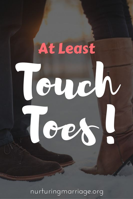 Actor Christ Pratt said that even if you are frustrated with your spouse at night - at least touch toes!