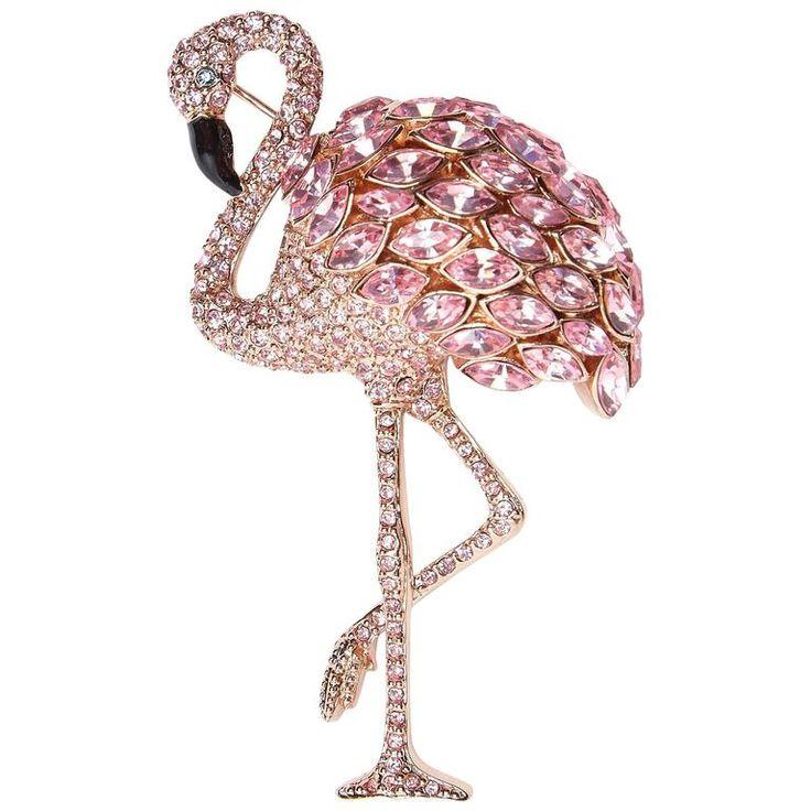 1980s Original Issue Butler & Wilson Flamingo Brooch