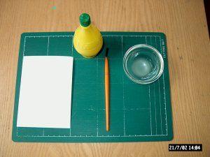 Geheimschrift maken met citroensap en strijkijzer