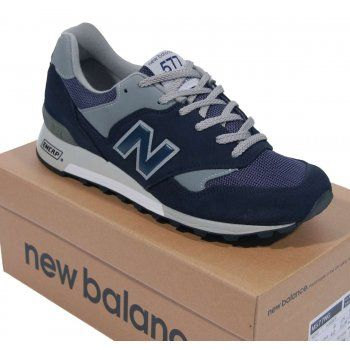New Balance M577 NG Suede Mesh Navy Grey - Mens Shoes from Attic Clothing UK