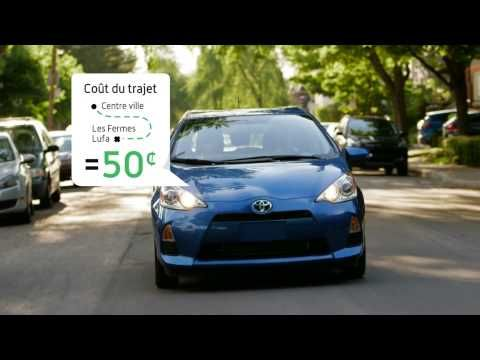 Vincent Graton and Marc-André Royal drive to Lufa Farms in a Toyota Prius TV ad.
