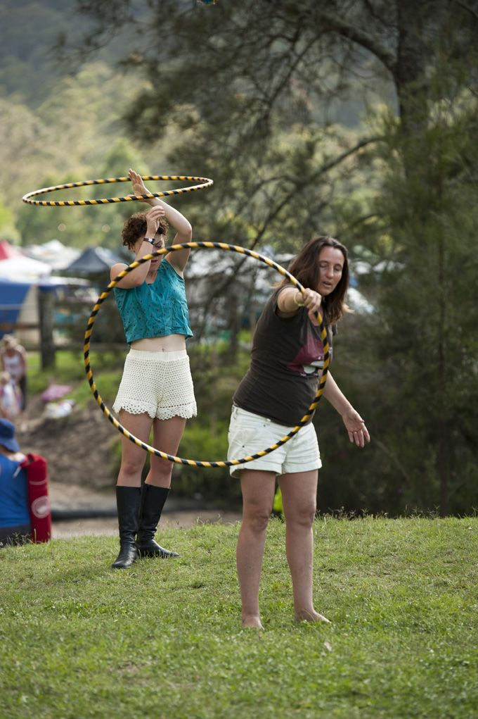 Students at Little Miss Circus Hula Hoops Workshops @ Peats Ridge Festival 2011/12