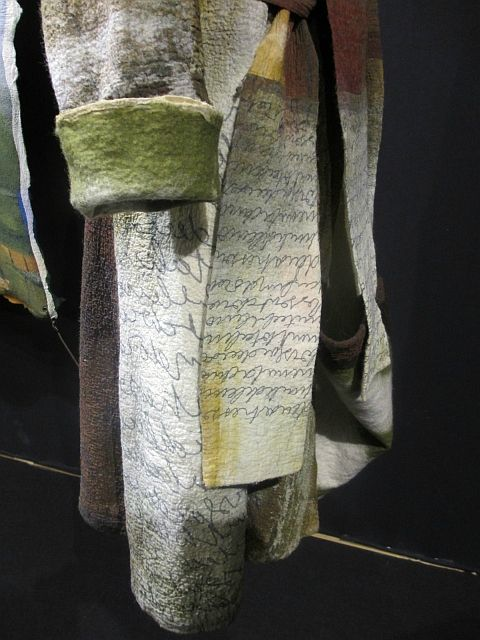 how to get the text in felting?