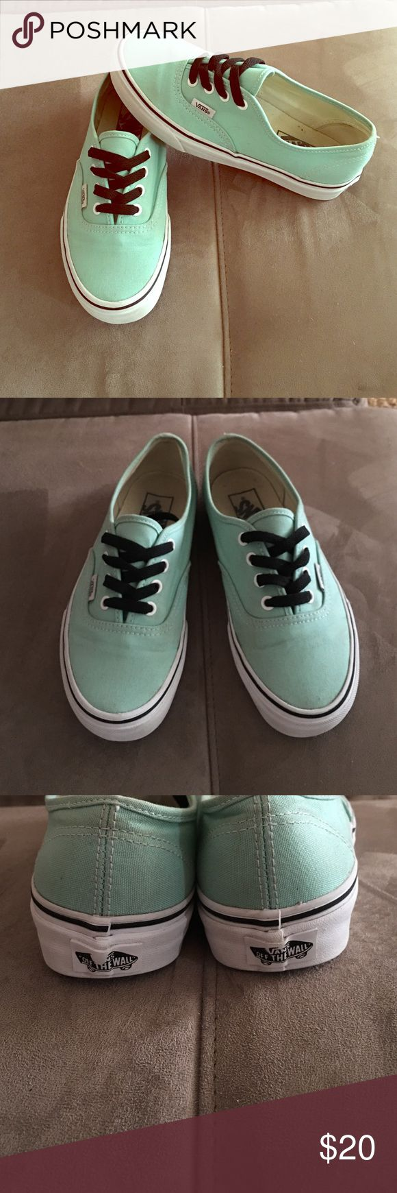Tiffany Blue VANS Tiffany blue color Vans. You can switch the laces to white if you don't like the black, those are for show. Gently worn! Offers welcome! Discount on bundles! Vans Shoes Sneakers