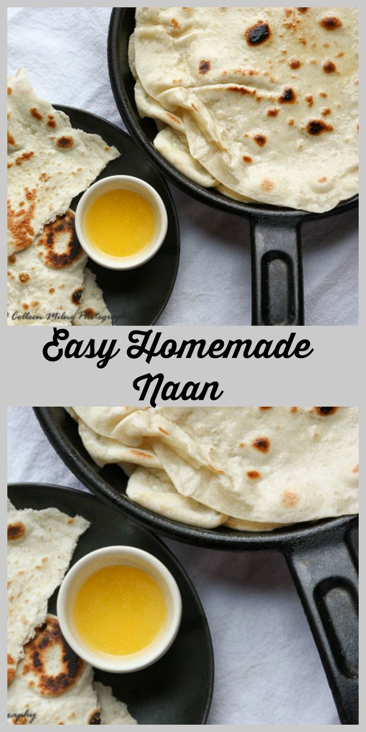 Homemade Naan is so easy to make and so deliciously worth doing. It's really easy, and you'll never go back to store bought once you try this!