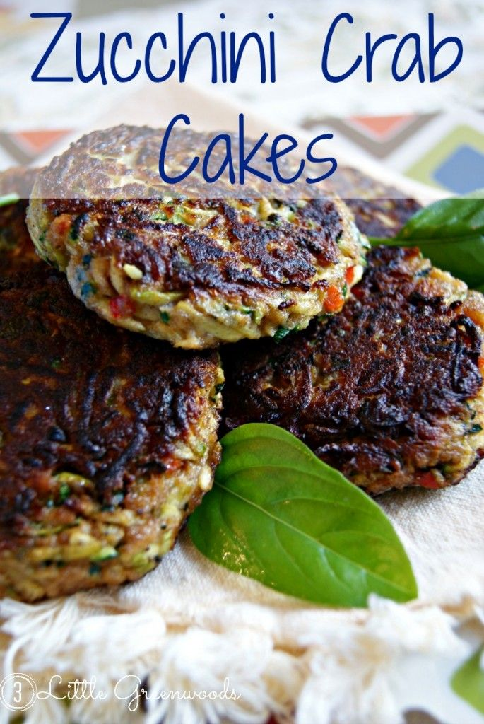 School of Southern Cooking: Delish Zucchini Crab Cakes ~ Kinda Sorta (No crab, just zucchini - but it tastes like a crab cake. I have to try this!!)