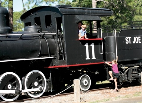 The historic steam engine is just one site at the Centennial Museum in Port St. Joe