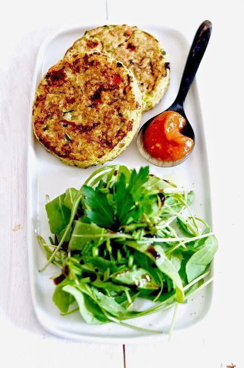 SANS GLUTEN SANS LACTOSE: Galettes de quinoa aux légumes