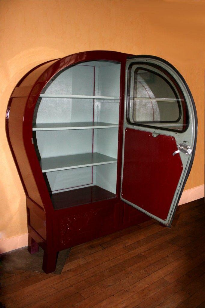 Armoire Vaisselier 2cv Porte Ouverte Meubles Automobile Mobilier De Voiture Mobilier De Salon